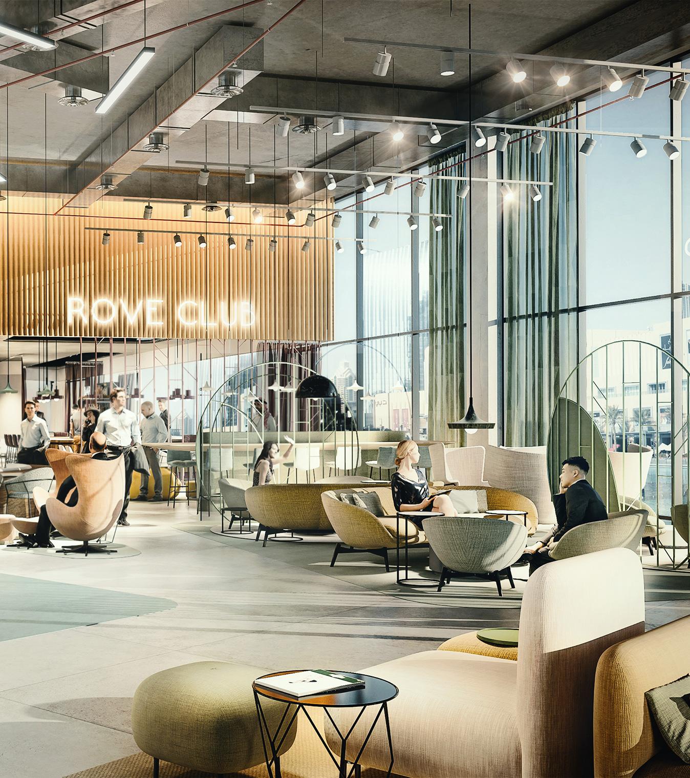 Rove Hotel Lobby Dubai